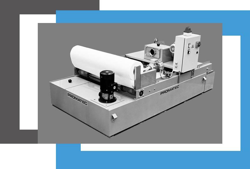 Filtre à déroulement PROMATEC pour liquide industriel