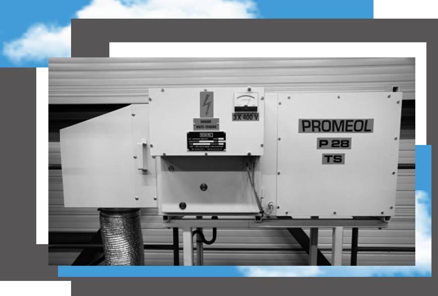 extraction polluant, filtration polluant, traitement air atelier PROMEOL