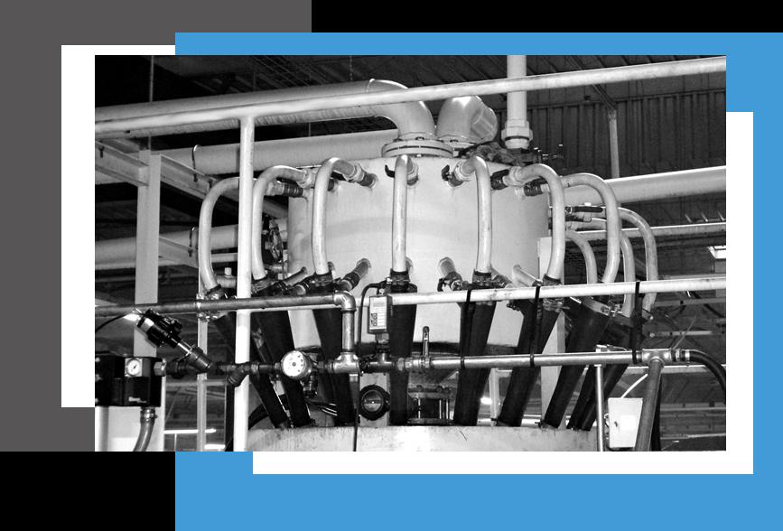 hydrocyclone, solution de purification de liquide aqueux